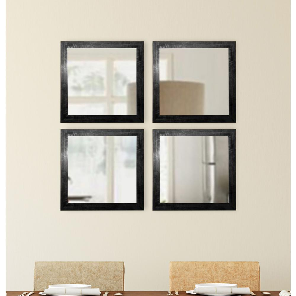 15 5 in x 15 5 in black smoke square wall mirrors set for 4 x 5 wall mirror