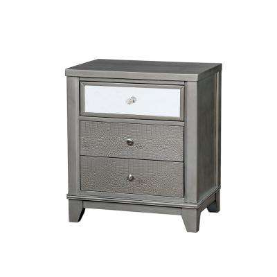 Bryant II Silver Contemporary Style Nightstand