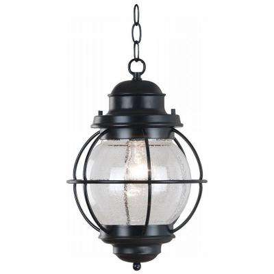 Hatteras 16 in. Black Hanging Lantern