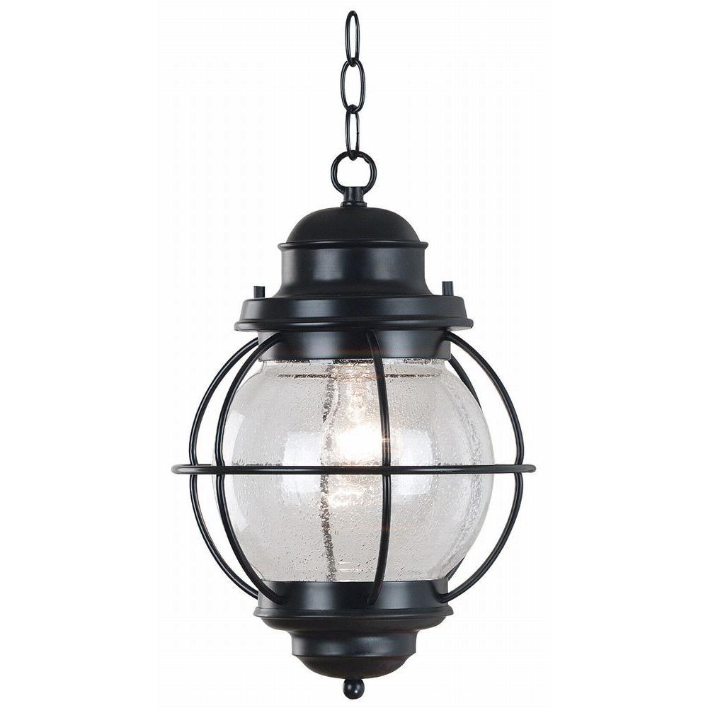 Hatteras 16 in. Black Hanging Lantern