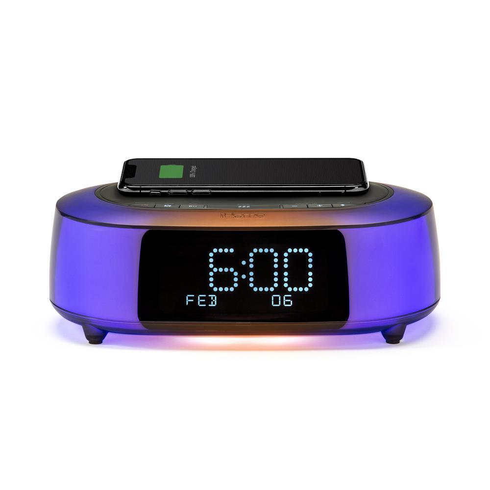 Digital Clock Table Clocks, Timelink Led Alarm Clock With Multi Color Display