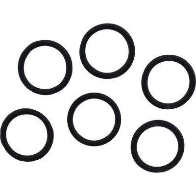 1/2 in. O.D. x 3/8 in. I.D. #207 Rubber O-Ring (6-Pack)