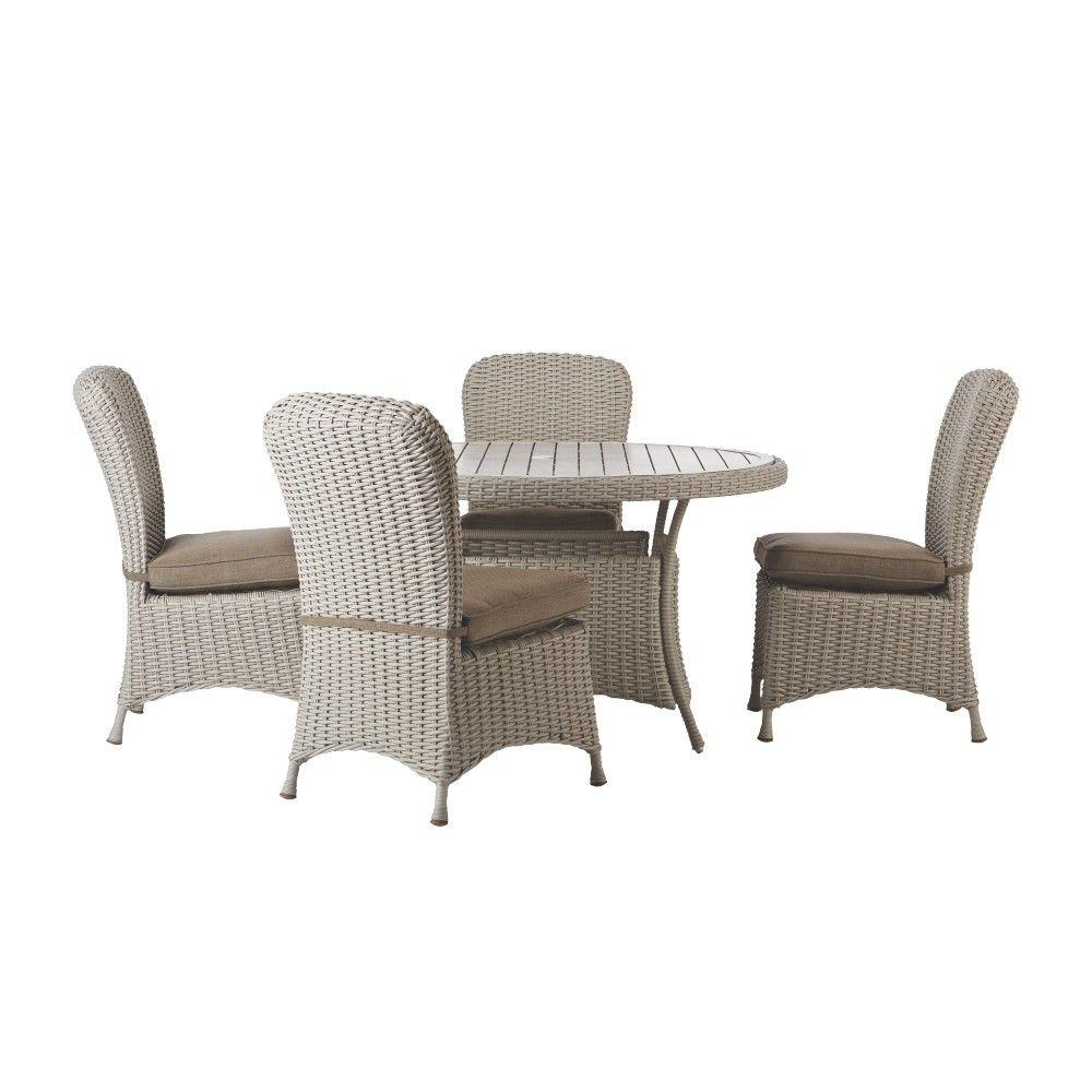 Martha Stewart Living Lake Adela Bone 5 Piece Patio Dining
