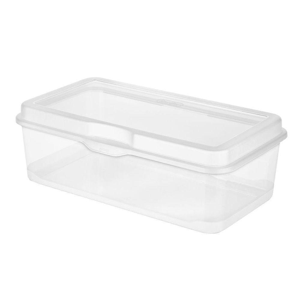 4.5 in. x 13 in. Large FlipTop Box in Clear