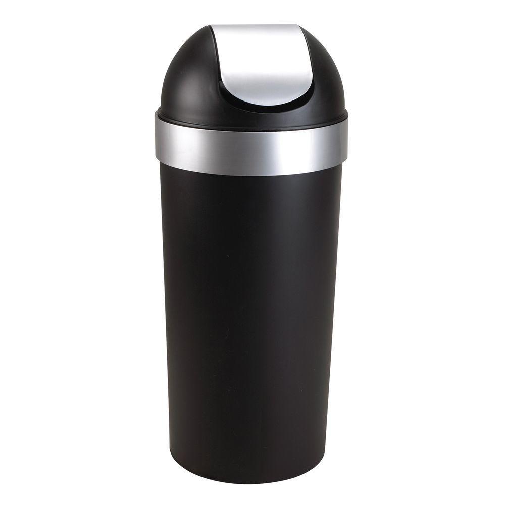 Venti 16.5 gal. Plastic Waste Basket, Black