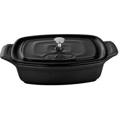 7 in. Cast Iron Mini Rectangular Casserole in Black