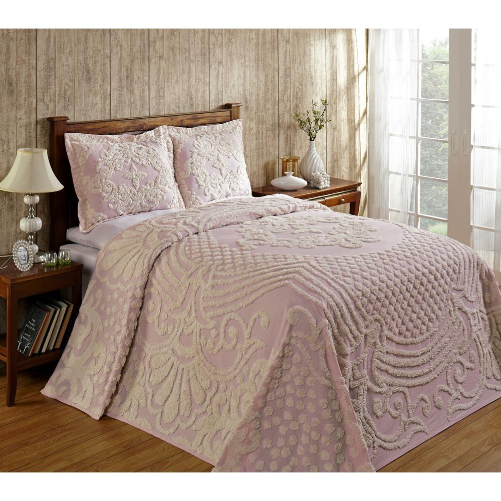 Better Trends Florence 1-Piece Pink King Bedspread SS-BSFLTWBL