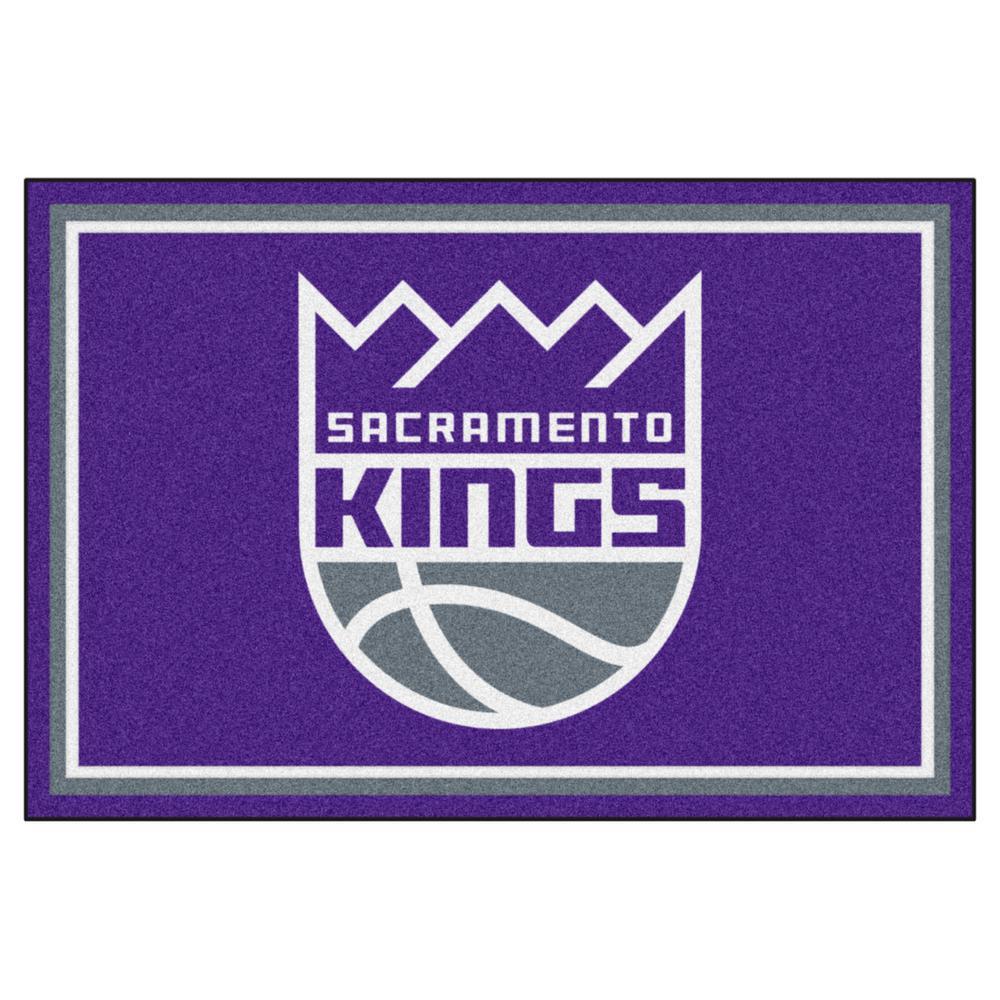 Houston Rockets X Golden State Warriors: FANMATS NBA Sacramento Kings Purple 5 Ft. X 8 Ft. Indoor
