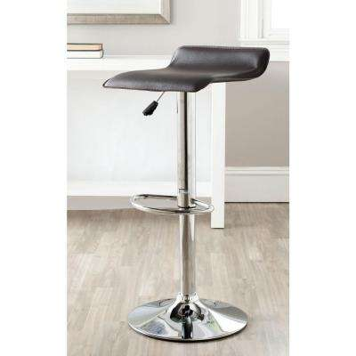 Sheba Adjustable Height Chrome Swivel Cushioned Bar Stool