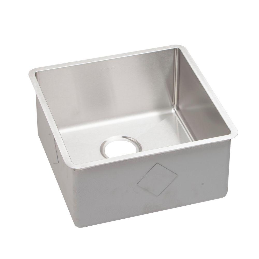 Crosstown Undermount Stainless Steel 19 in. Single Bowl Kitchen Sink