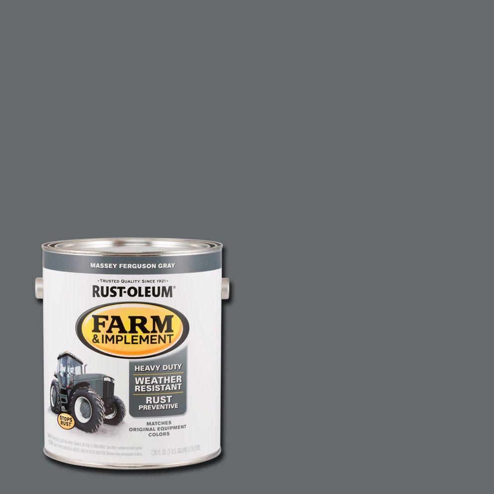 Rust-Oleum 1 gal. Farm & Implement Massey Ferguson Gray Enamel Paint ...