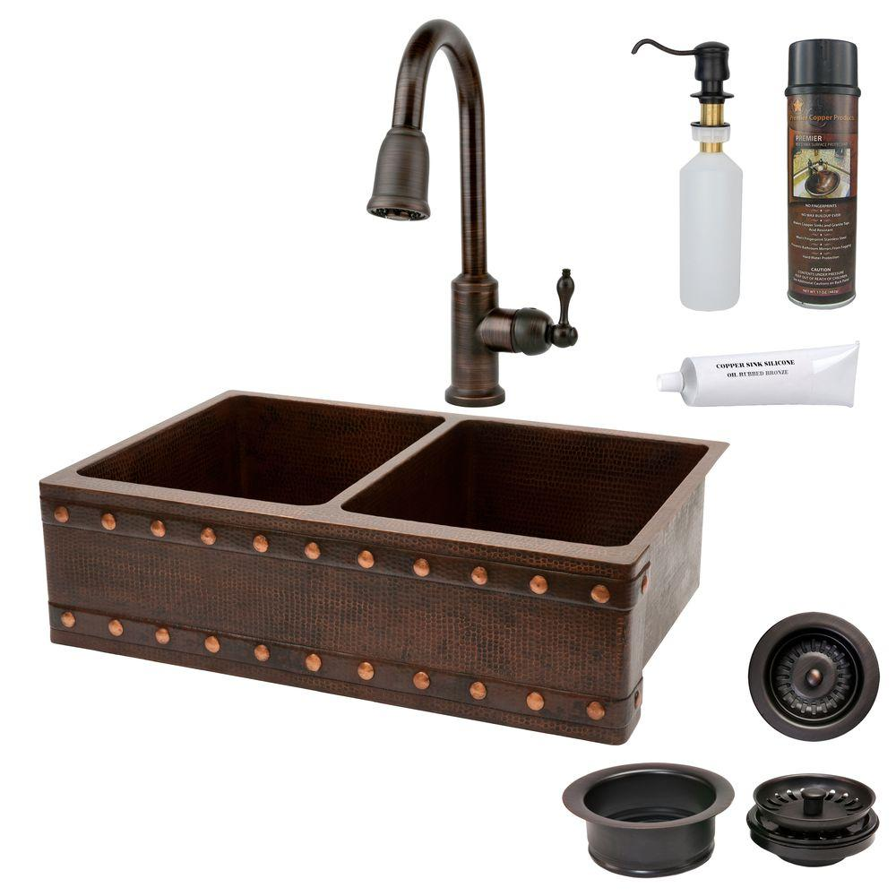 Premier Copper Products All-in-One Undermount Copper 33 i...