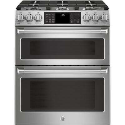 6.7 cu. ft. Slide-In Double Oven Smart Dual Fuel Range with Self-Cleaning Convection Oven in Stainless Steel
