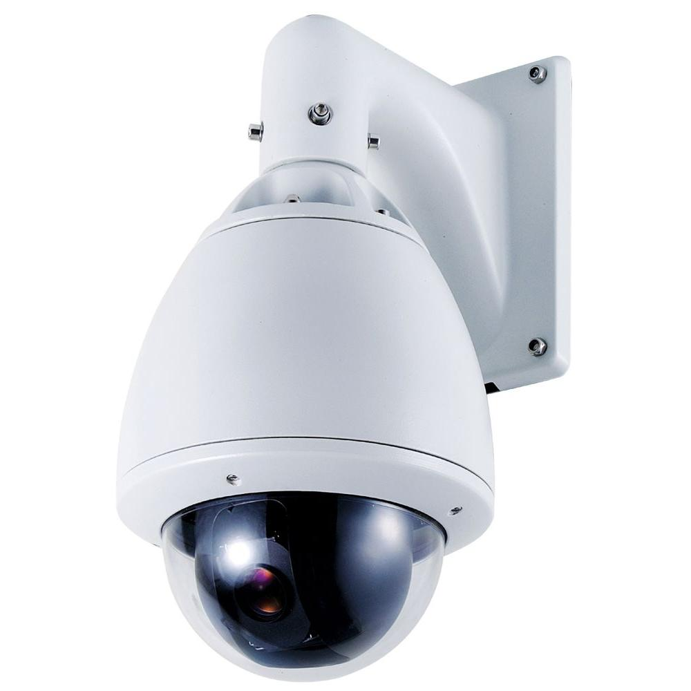 SPT Wired 700TVL Indoor/Outdoor Day/Night PTZ Camera with 30X Optical Zoom - White