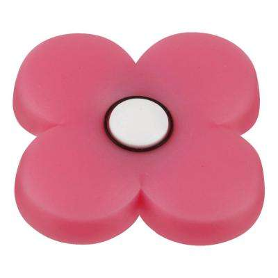 Kids Corner Flower 1-13/16 in. Multi-Colored Flower Metal Cabinet Knob