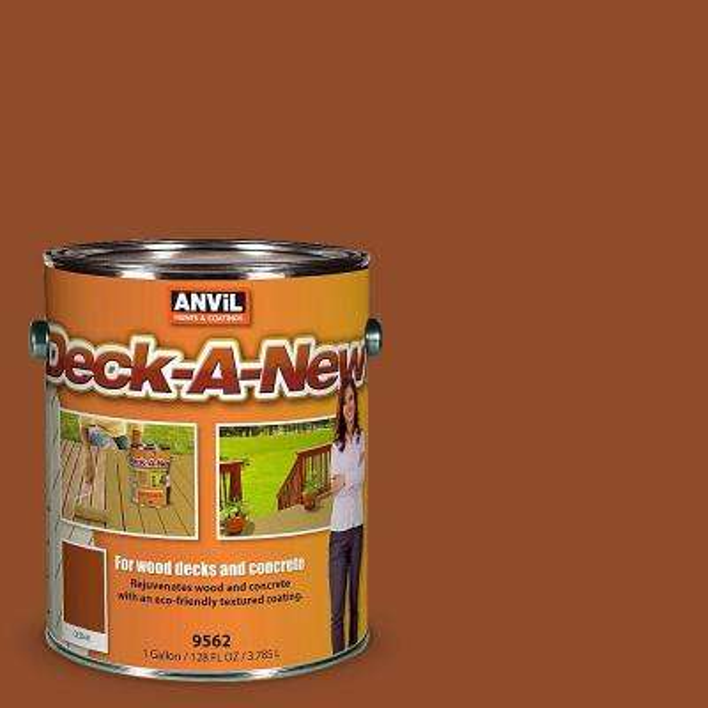Deck-A-New 1-gal. Cedar Rejuvenates Wood and Concrete Decks Premium Textured Resurfacer