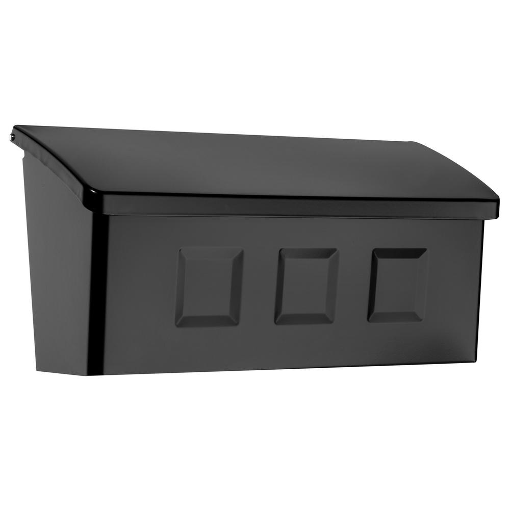 wall mount residential mailboxes. Wayland Black Wall Mount Mailbox Residential Mailboxes The Home Depot