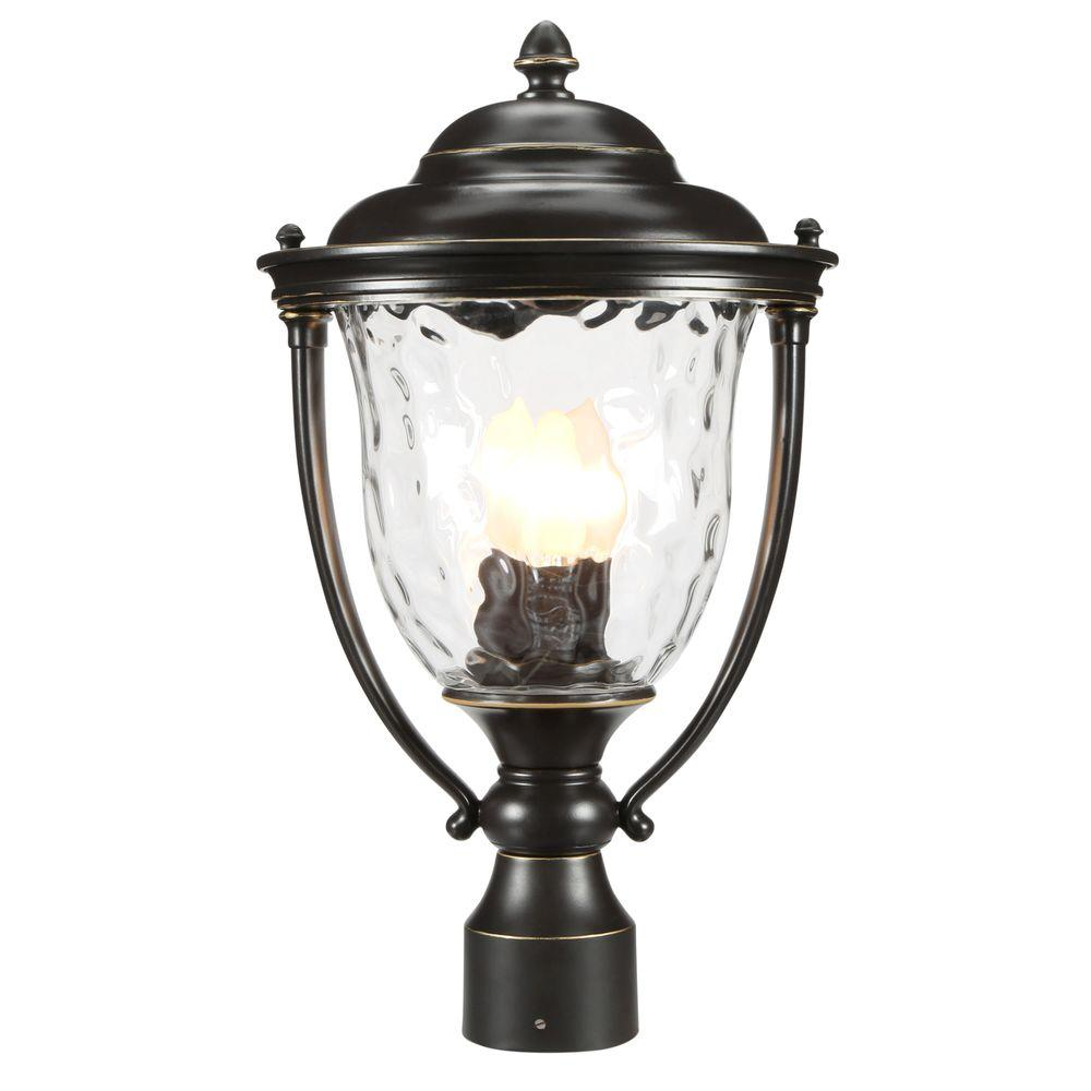 Progress Lighting Prestwick Collection 3-Light Oil-Rubbed Bronze Outdoor Post Lantern