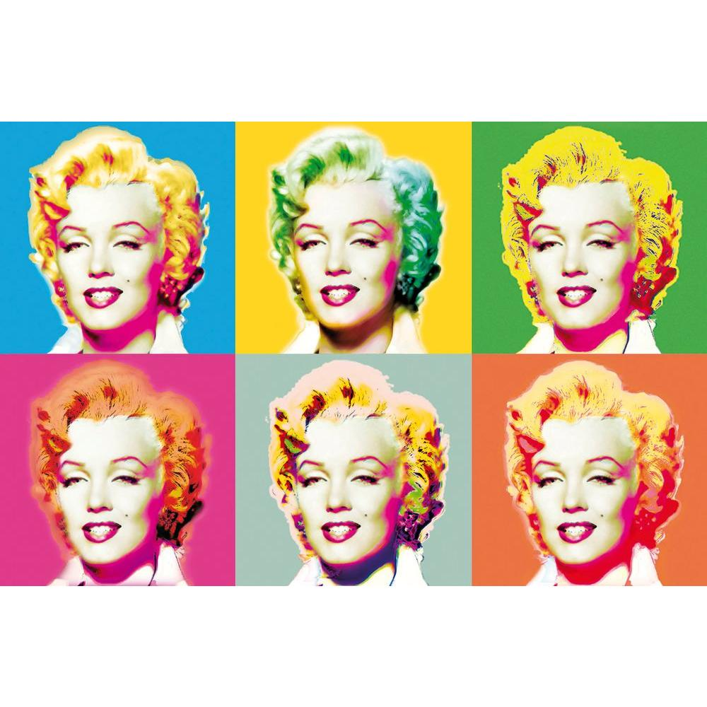 Ideal Decor 45 in. x 69 in. Visions of Marilyn Wall Mural