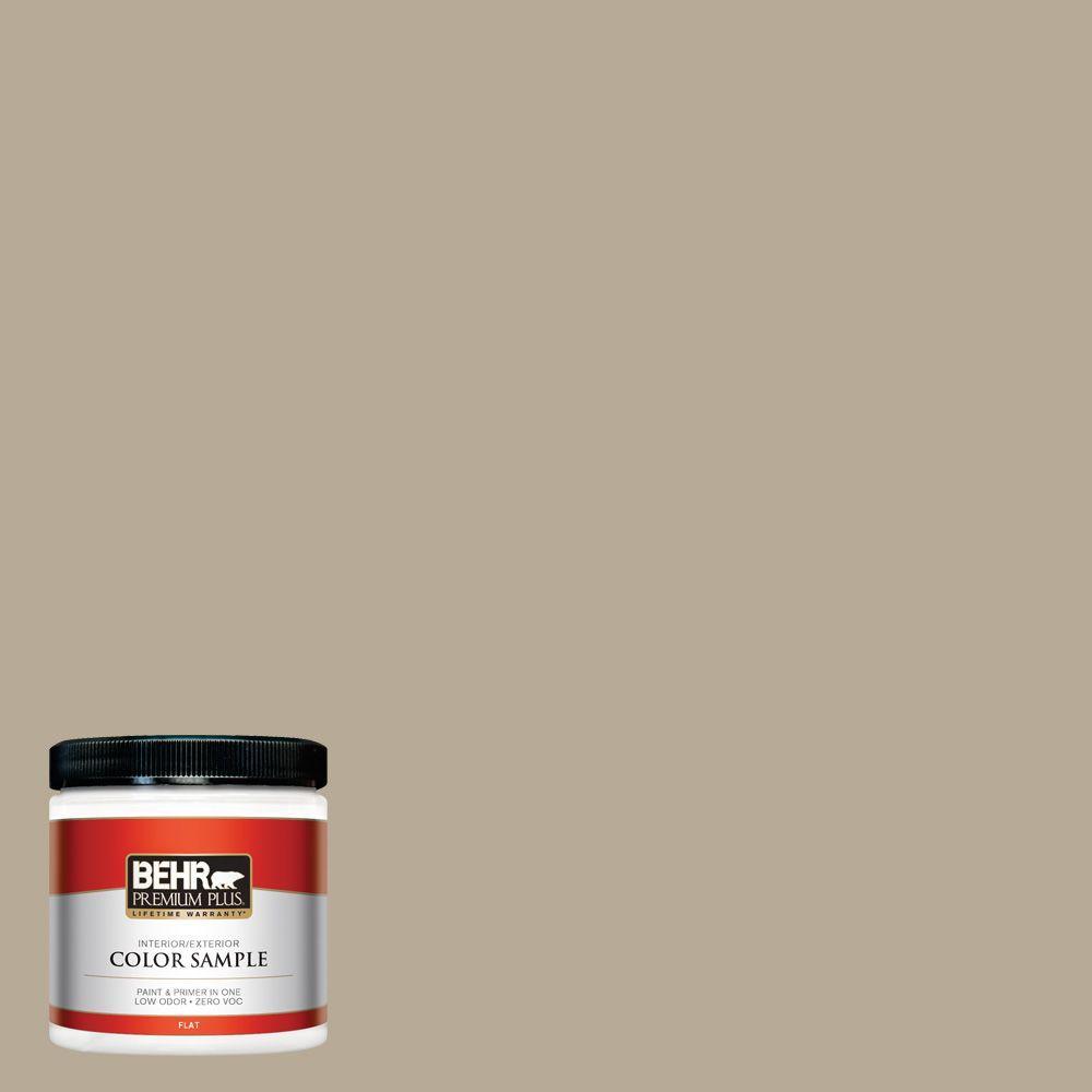 BEHR Premium Plus 8 oz. #N310-4 Desert Khaki Interior/Exterior Paint Sample