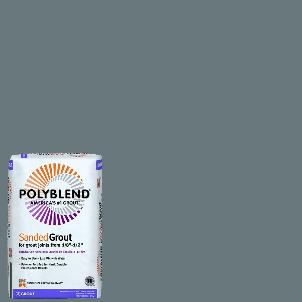 Custom Building Products Polyblend 19 Pewter 25 Lb Sanded Grout