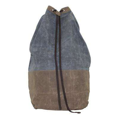 Waxed Canvas Laundry Duffel Slate