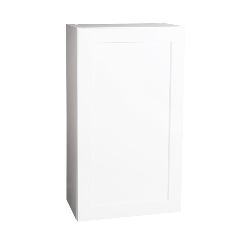 Krosswood Doors Ready To Assemble 24x42x13 In Shaker 1 Door Wall Cabinet In White With Soft