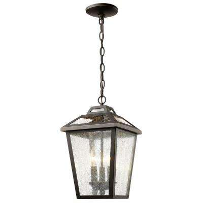Wilkins 3-Light Oil-Rubbed Bronze Outdoor Hanging Lantern