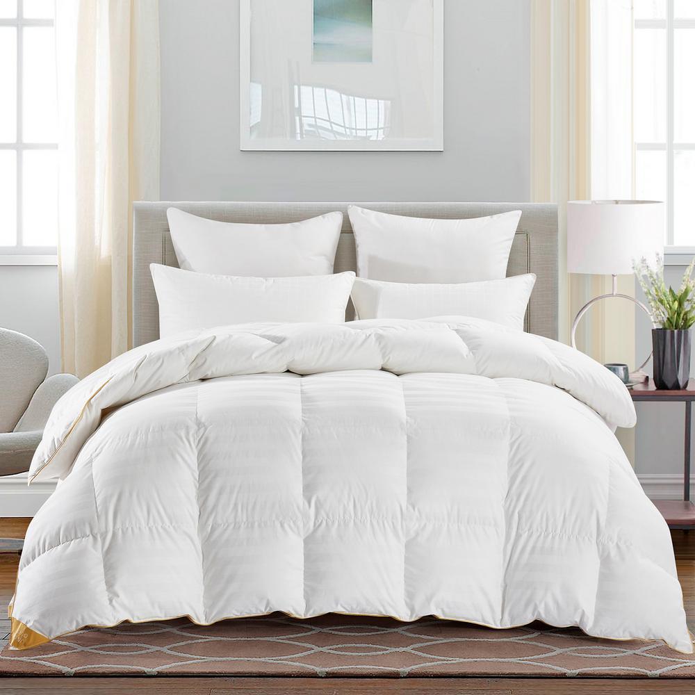 Year Round Warmth White Full/Queen 75% Goose Down Comforter