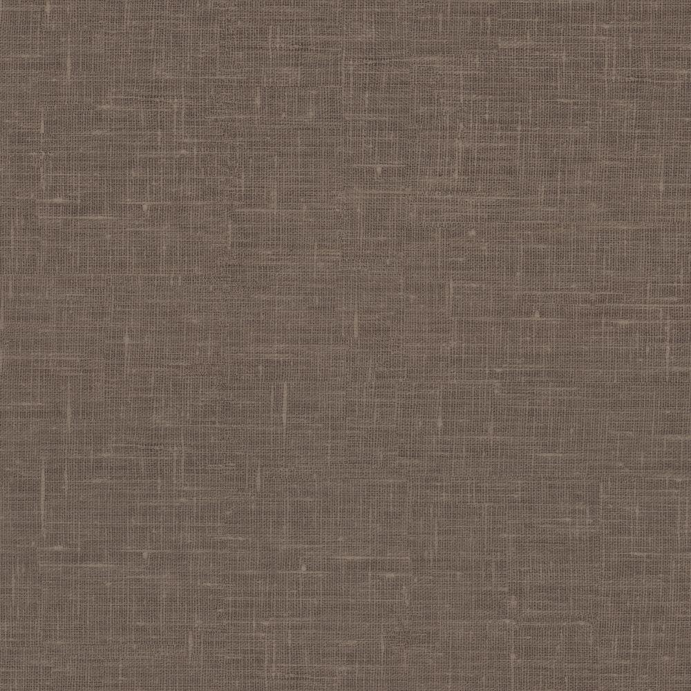 Linge Taupe Linen Texture Wallpaper
