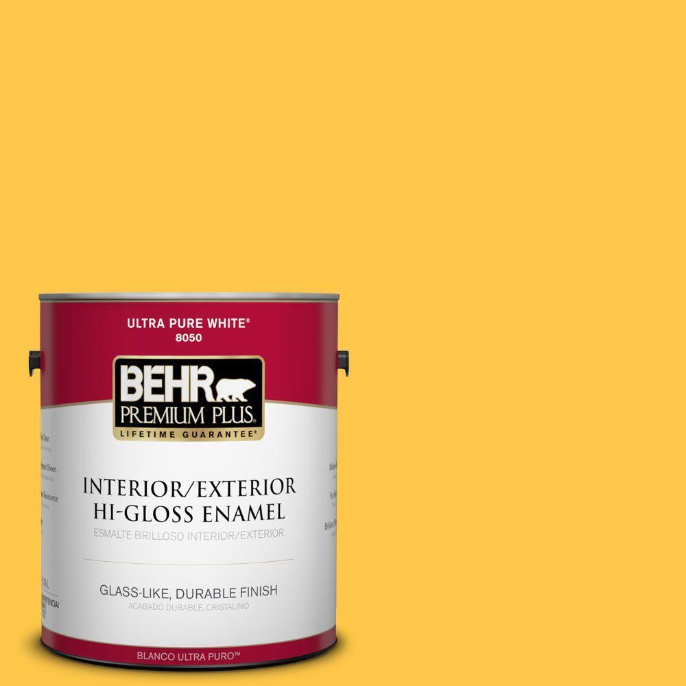 BEHR Premium Plus 1-gal. #350B-7 Chickadee Hi-Gloss Enamel Interior/Exterior Paint