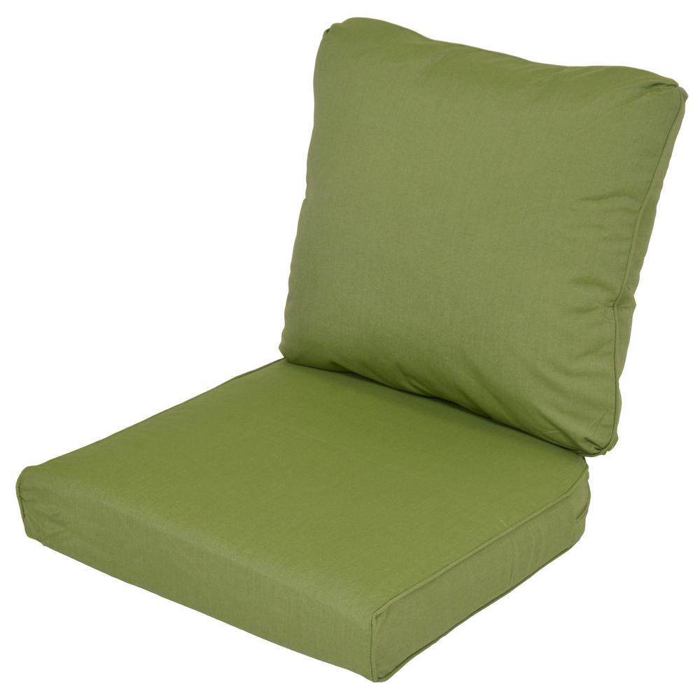 Lemon Grove Sunbrella Spectrum Cilantro Replacement 2-Piece Outdoor Loveseat Cushion
