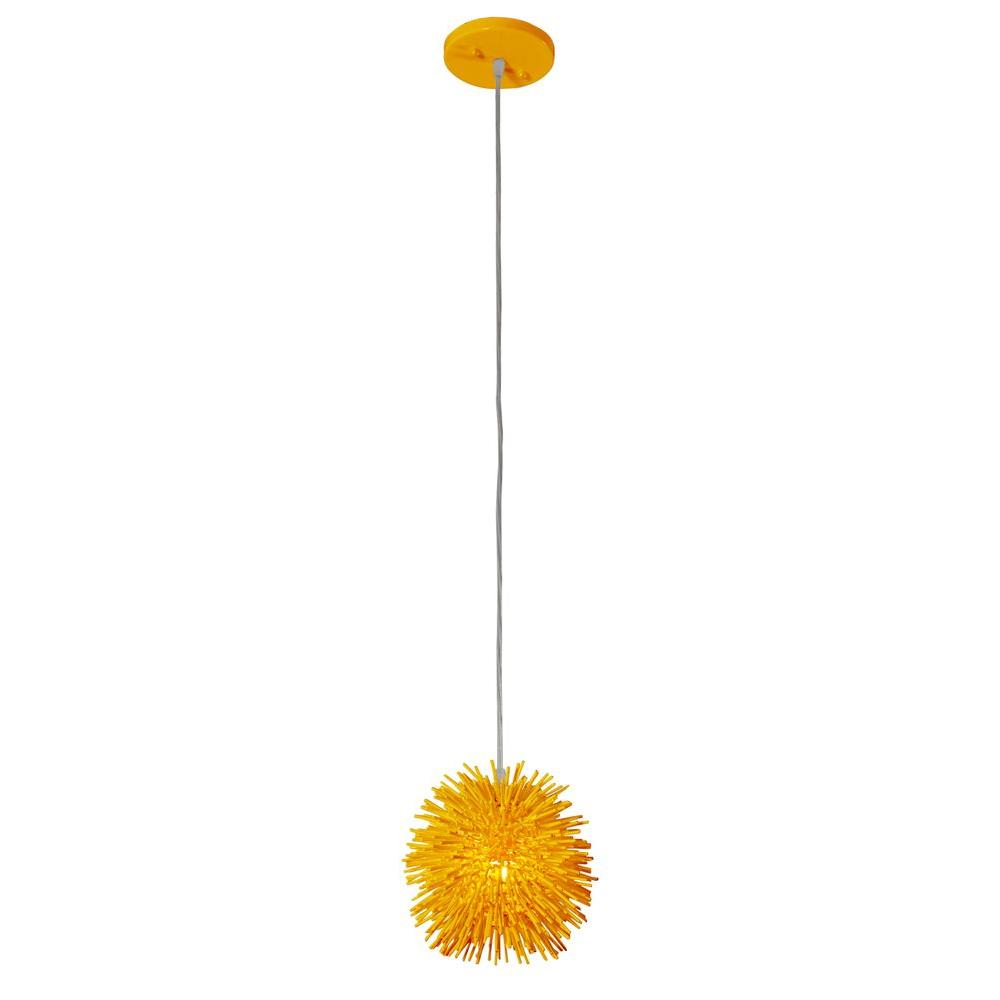Varaluz Urchin 1-Light Un-Mellow Yellow Uber Mini Pendant
