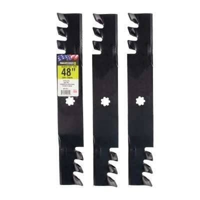 48 in. 3-N-1 Commercial Mulching Blade Set for John Deere Mowers (3-Pack)