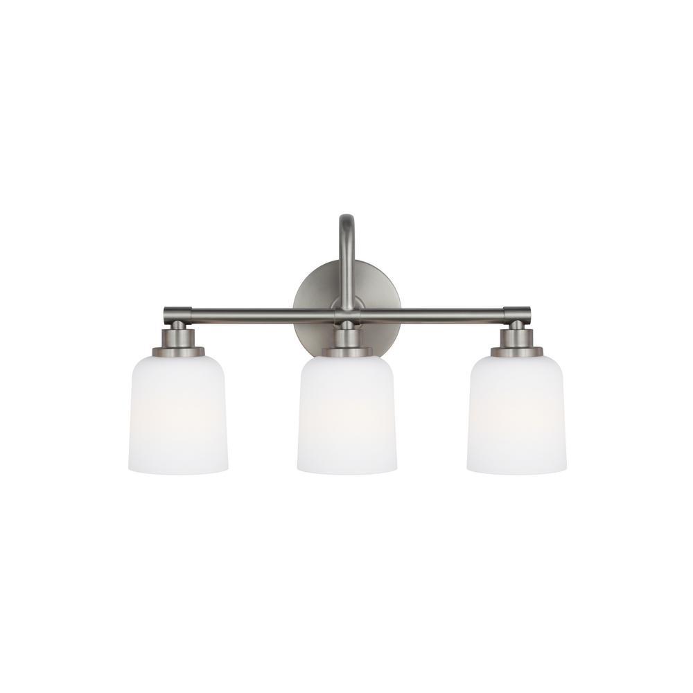 Feiss Reiser 3 Light Satin Nickel Bath Light Vs23903sn