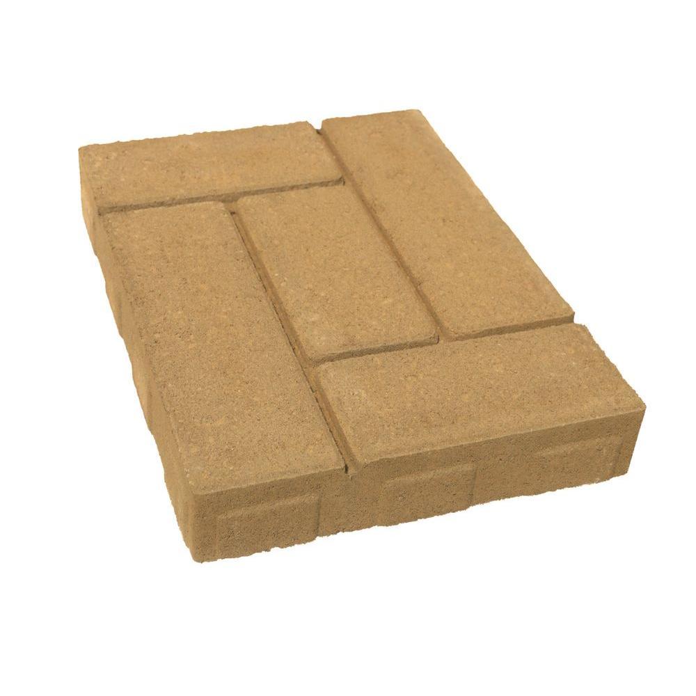 Lattice 15.75 in. x 11.75 in. x 2.25 in. Tan Concrete Step Stone (96 Pieces / 120 sq. ft. / Pallet)