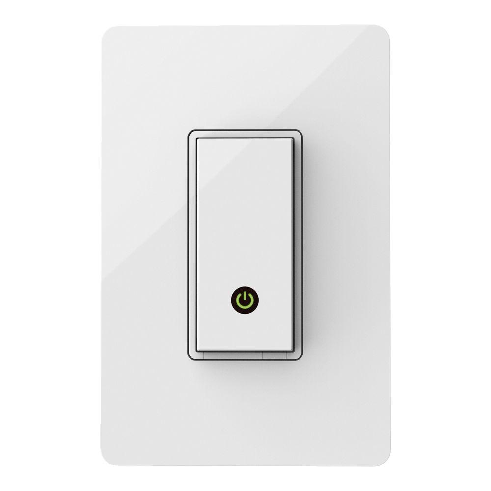 Wemo Wireless Light Control Switch F7c030fc The Home Depot Turns On Off And One 2way That Fan