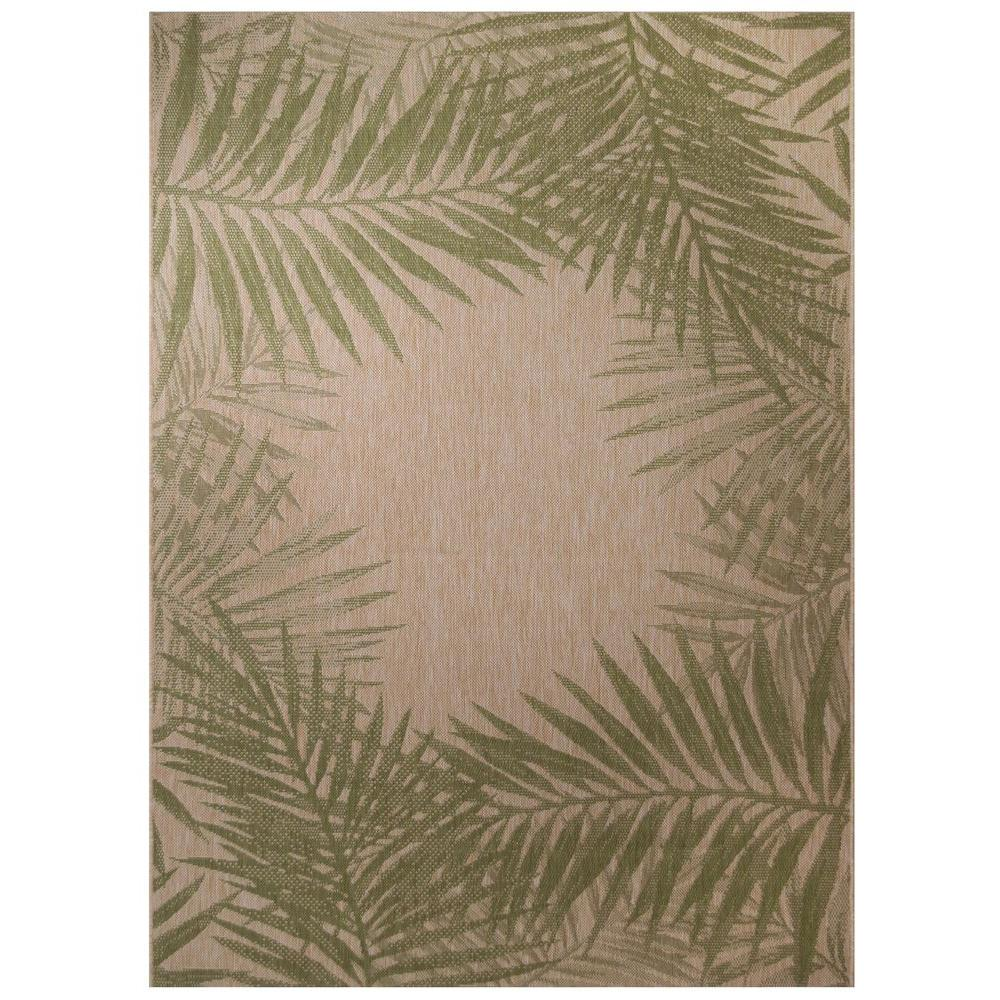 palm border 5 ft 3 in x 7 ft 4 in indoor outdoor area rug