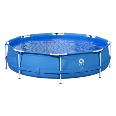 10 ft. Round 30 in. Outdoor Above Ground Swimming Pool Metal Frame Pool