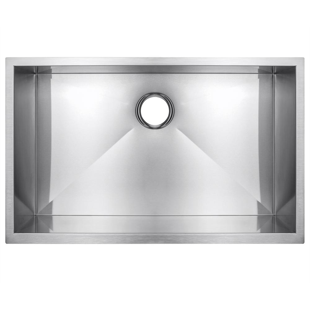 Golden Vantage Handmade Undermount Stainless Steel 33 In X 22 In X 9 In Single Bowl Kitchen Sink In Brushed Finish Ks0083 The Home Depot