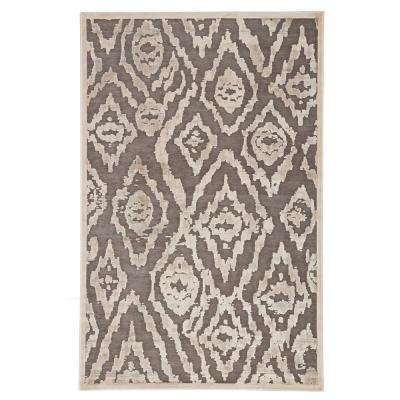 Fables Brown 8 ft. 10 In. x 11 ft. 9 In. Ikat Rectangle Rug