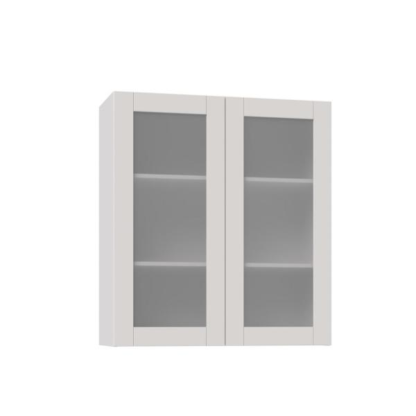 J Collection Shaker Assembled 36x40x14 In Wall Cabinet With Frosted Glass Doors In Vanilla White Wg3640 Ws The Home Depot