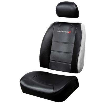Dodge 26 in. x 22 in. x 0.5 in. Heavy-Duty Sideless 3-Piece Design Seat Cover with Cargo Pocket