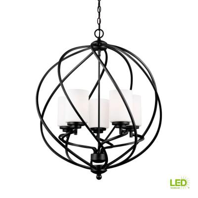 Sea Gull Lighting Turbinio 6 Light Blacksmith Hall Foyer Pendant