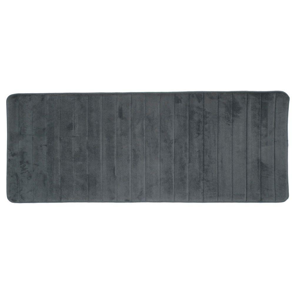 Memory Foam Striped Extra Long Bath Mat