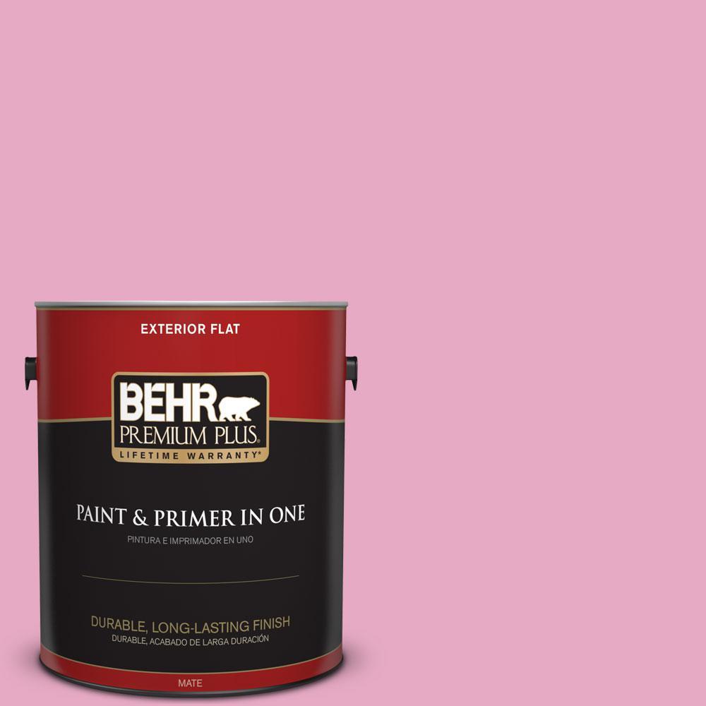 BEHR Premium Plus 1-gal. #P130-3 Little Princess Flat Exterior Paint ...