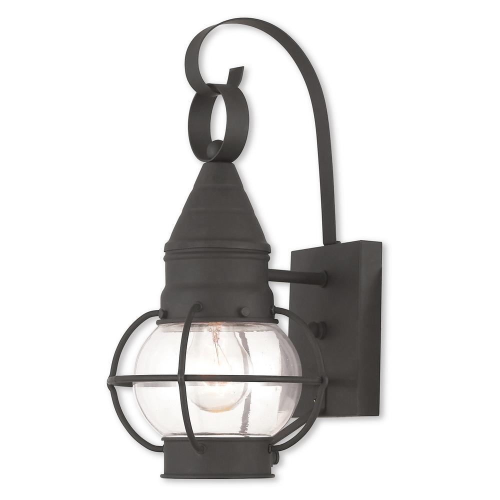 Newburyport 1-Light Black Outdoor Wall Mount Lantern