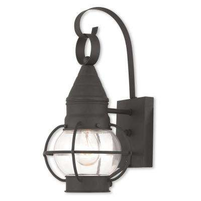 Newburyport 1-Light Black Outdoor Wall Mount Lantern