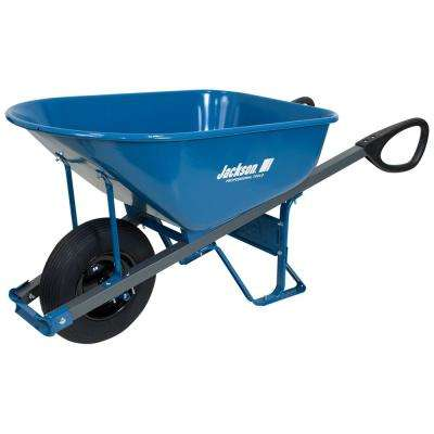 6 cu. ft. Seamless Steel Wheelbarrow with Total Control Handles
