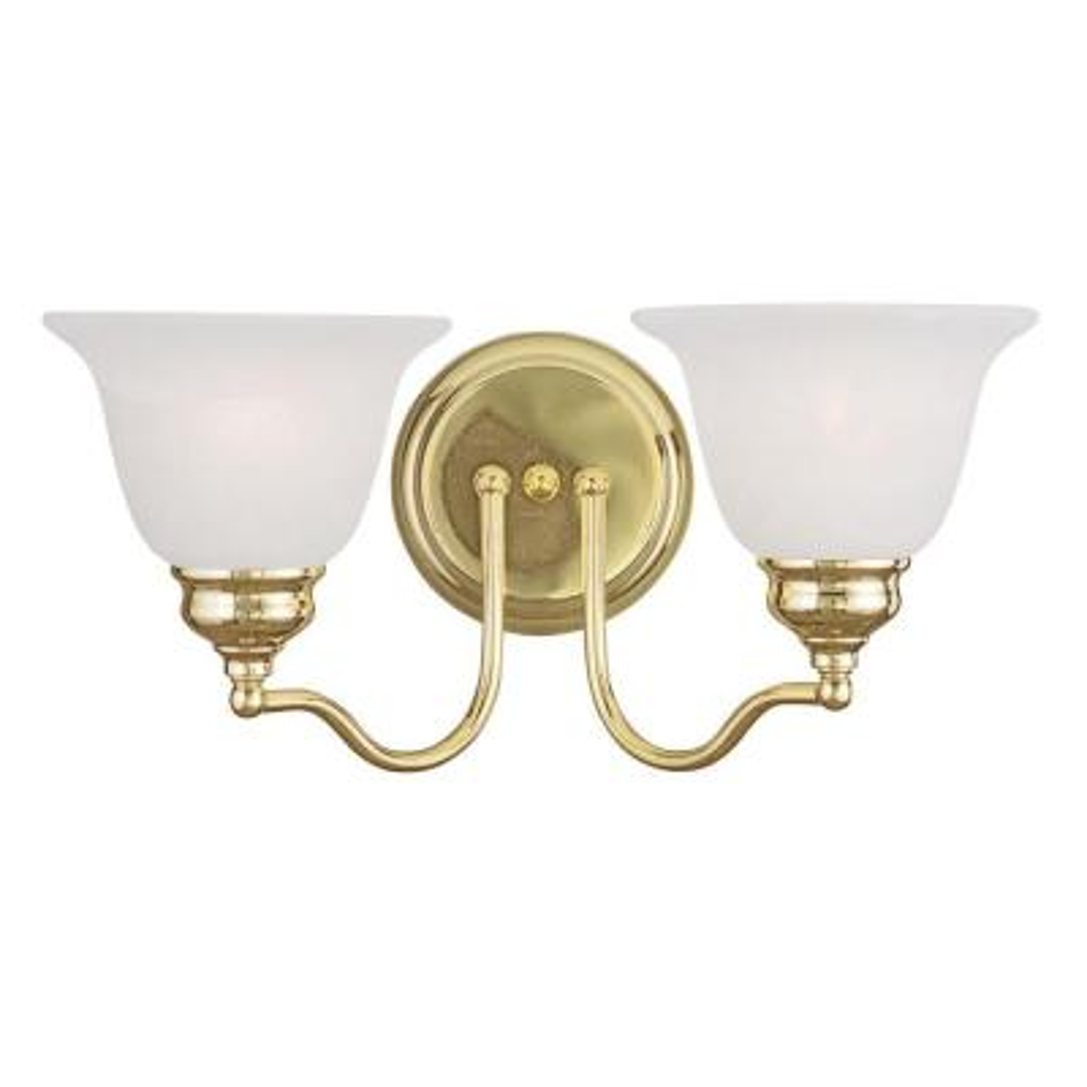 Providence 2-Light Polished Brass Incandescent Wall Vanity Light